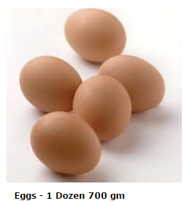 Eggs 700 gm - 1 Doz CAGED