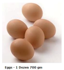 Eggs 700 gm - 1 Doz CAGED
